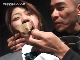 Teen asian sex prisoner gets boobs and cunt grabbed