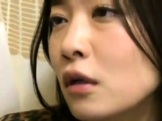 Japanese MILF fucked less hairy clit