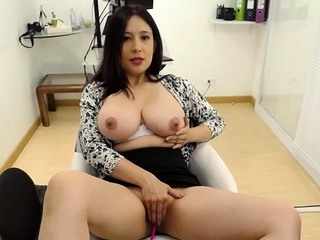 Asian webcam chick with yummie big boobs
