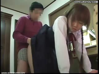 Japanese teen voyeur tutorial screwing
