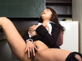 Disturb hard fuck feigning in the classroom with a down in the mouth teacher