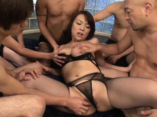 Gangbanging a big mamma Asian hottie