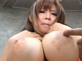 Arousing tugjob with the addition of tit fuck with a amazing asian playgirl