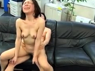 Asian slut Kana Kawai double blowjob increased by hardcore