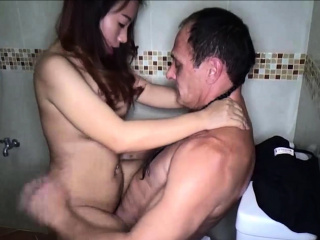 Hot amateur Thai freelance spliced spoonful condom sexual connection session