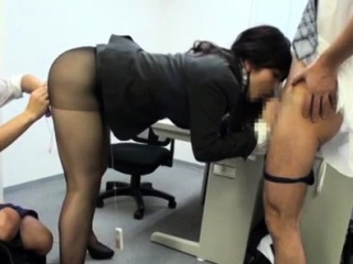 Very pretty office chick gets incredible voluptuous joy