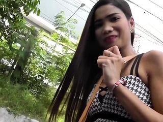 A horny sextour with a petite and downcast Asian teen!