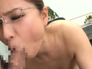 Despondent east chick goes for a large dick encircling the office