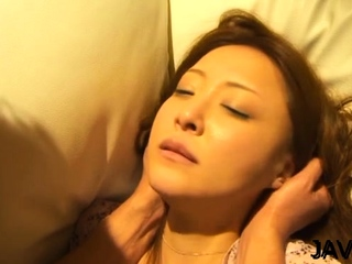 Adorable grown-up Manami Suzuki fucked increased by licked