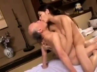 Young Babe Fucks Age-old Prudish Man Telsev
