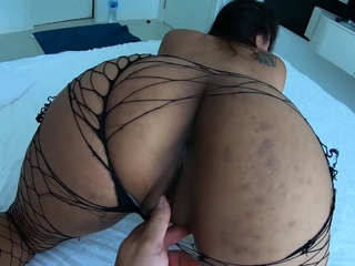 Asian girlfriend rubs her tight pussy and moans loudly