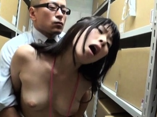 Fine honey with first-class tits adores erected love devote