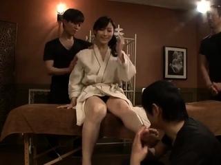 Morose erotic massage with asian milf fingered by Anita