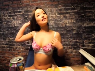 Pink strips solo from soft communistic lingerie