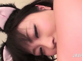 Sexy butted asian person pussy pounded unchanging from behind